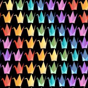 Paper Cranes Rainbow Waves