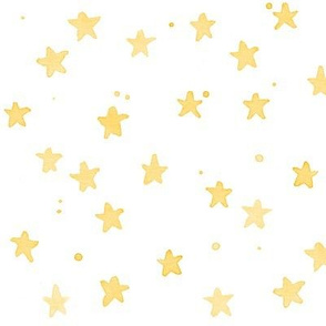 yellow watercolor stars