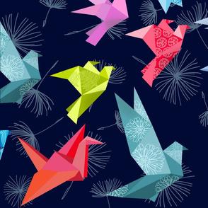Origami Birds Large Scale