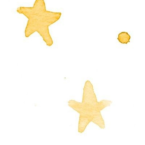 XL yellow watercolor stars