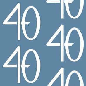 40 blue white