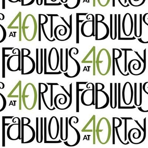 Fabulous 40 black green long