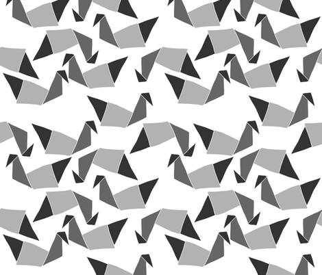 origamiShadesofGrey fabric by maredesigns on Spoonflower - custom fabric