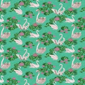 Swans Origami half drop