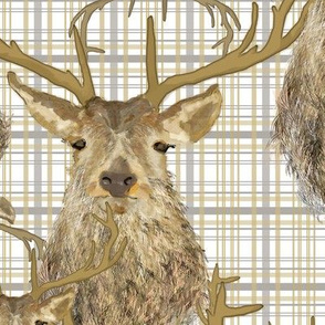 Stag Deer Plaid