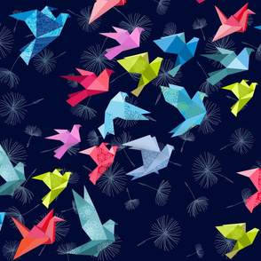 ORIGAMI BIRDS IN FLIGHT