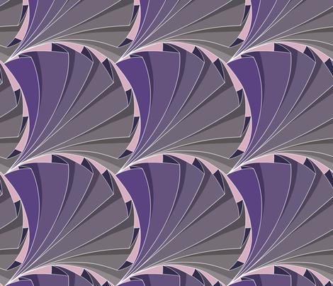 Geometric Folded Fan Pattern in Purple fabric by martaharvey on Spoonflower - custom fabric
