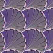 Geometric Folded Fan Pattern in Purple