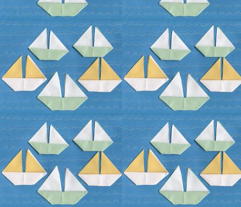 Origami Regatta fabric by dizzybeedesigns on Spoonflower - custom fabric