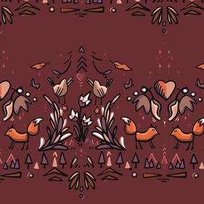Foxes Strip Pattern