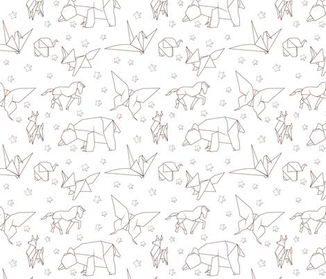 Origami fabric by svaeth on Spoonflower - custom fabric