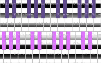 Violet + Mauve Fascinatin' Rhythm by Su_G