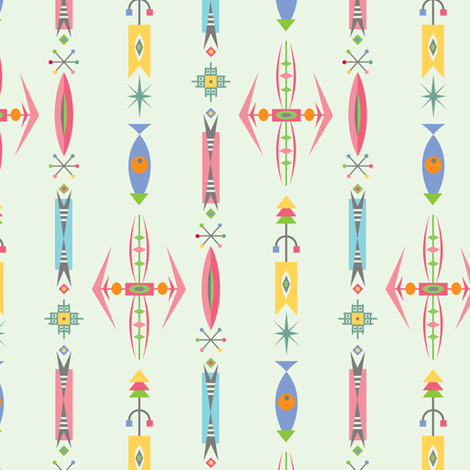 deco jewels fabric by andibird on Spoonflower - custom fabric