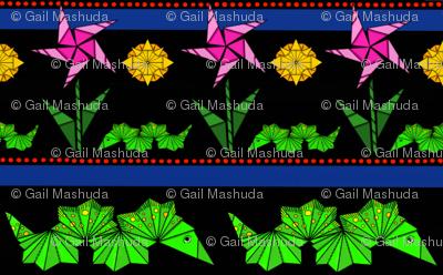 Neon Paper Caterpillers