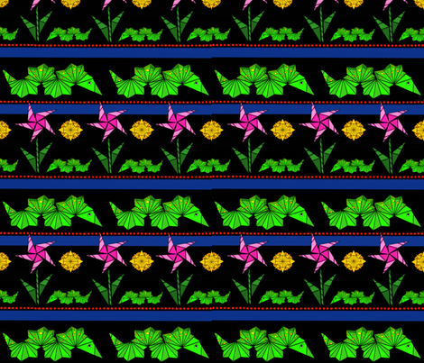Neon Paper Caterpillers fabric by gcatmash on Spoonflower - custom fabric