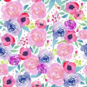 Bright Boho Watercolor Floral Starburst