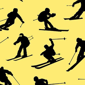 Skiers on Yellow // Large