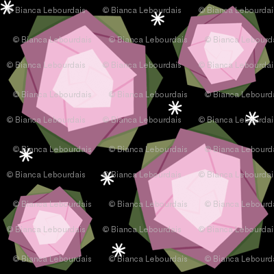 Origami pink lotus