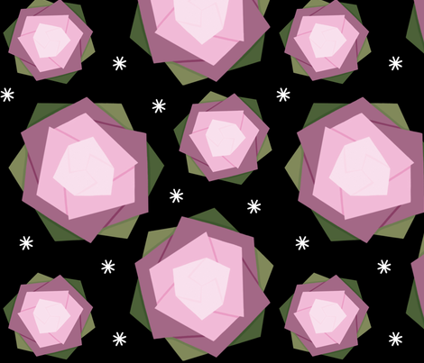 Origami pink lotus  fabric by bibileb28 on Spoonflower - custom fabric
