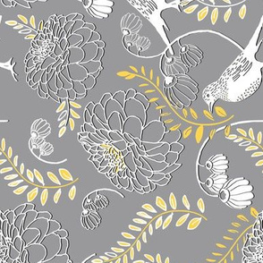 Floral Gray Railroaded