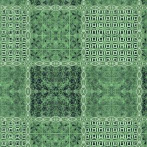 Small green batik