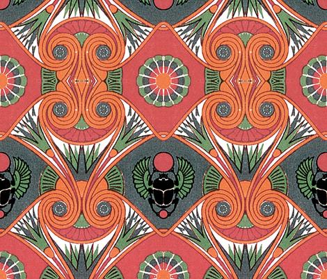 sleep like an egyptian  fabric by hypersphere on Spoonflower - custom fabric