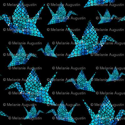 Watercolour Origami Cranes