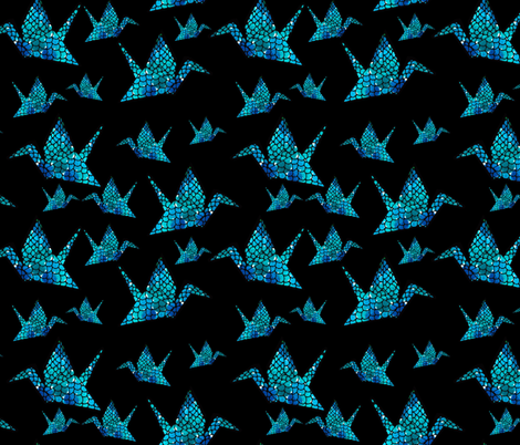 Watercolour Origami Cranes fabric by melanieaugustin on Spoonflower - custom fabric