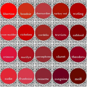Peacoquette Designs Palette ~ Red