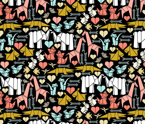 Origami Date Night fabric by mag-o on Spoonflower - custom fabric