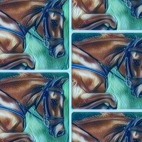 Horse art winter
