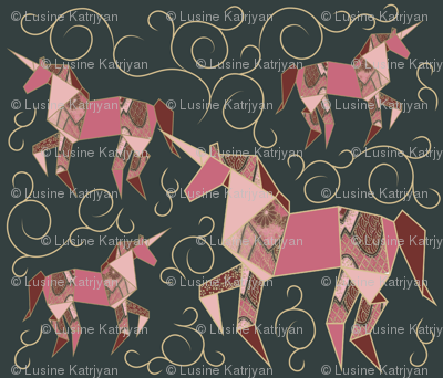 Origami_Unicorn_Pattern_Darkjpg