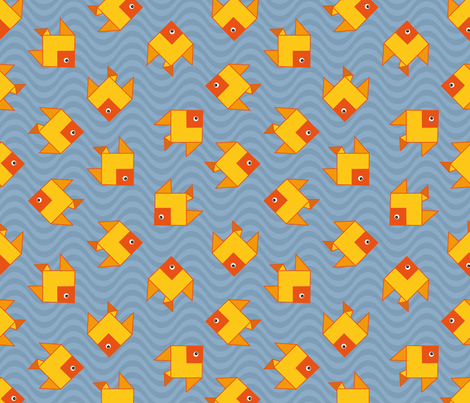 origami clone fish fabric by colorofmagic on Spoonflower - custom fabric