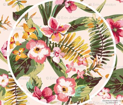 Tropical Paradise Roundie Play Mat Panel
