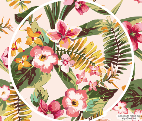 Tropical Paradise Roundie Play Mat Panel fabric by erin__kendal on Spoonflower - custom fabric