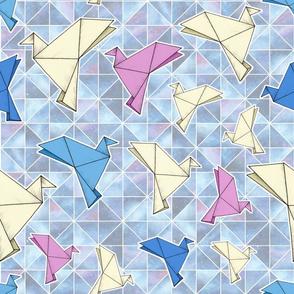 Cosmic Origami Doves