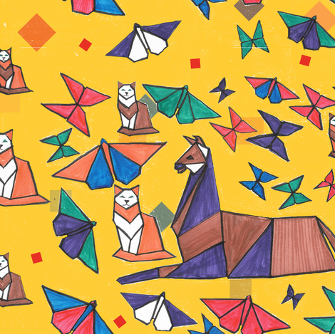 The Cat is in Charge fabric by alohajean on Spoonflower - custom fabric