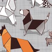 Origami doggie friends