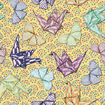 Butterflies and Cranes