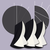 Rocking Nuns, Three by Su_G