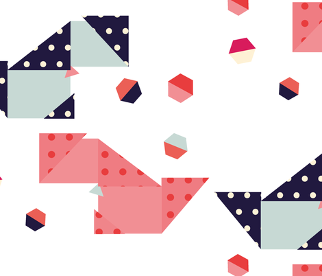 origami dog fabric by michelle_vassallo_vansell on Spoonflower - custom fabric