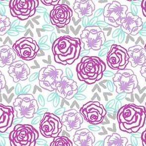 roses // purples horses coordinate girly pastel mint and purple lavender flowers floral spring flowers (small)