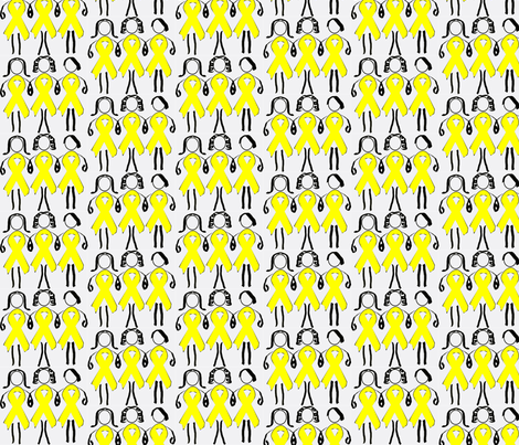 Endo Girls Unite medium-ch fabric by teysha's_creations on Spoonflower - custom fabric
