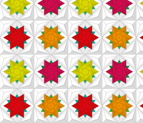 origami_flowers fabric by ciocia_frania on Spoonflower - custom fabric