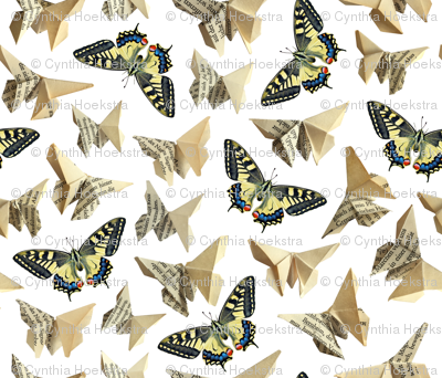 Pages full of butterflies