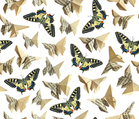 Pages full of butterflies fabric by cynthiahoekstra on Spoonflower - custom fabric