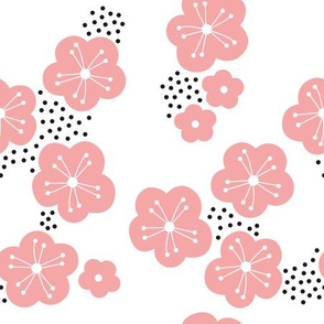 Sweet minimal style cherry blossom spring summer design soft pink