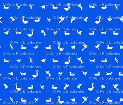 Origami Polka Dot_Flying Objects_Blueberry