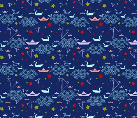 Of Seas and Sky fabric by kristinloo on Spoonflower - custom fabric