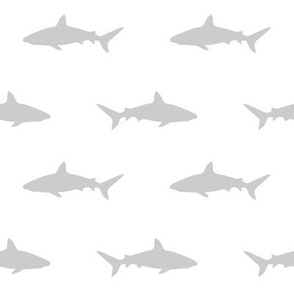 grey and white shark fabric nursery baby design